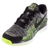 NIKE Men`s Zoom Vapor Flyknit Tennis Shoes Black and Volt