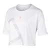 Women`s Court Tennis Crop Tee 100_WHITE
