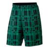 Men`s Court Dry 9 Inch Plaid Tennis Short 324_STADIUM_GREEN/BK