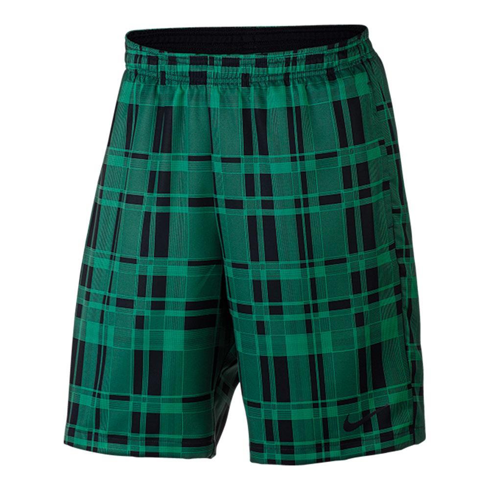 Men's Court Dry 9 Inch Plaid Tennis Short