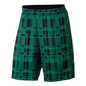 Men`s Court Dry 9 Inch Plaid Tennis Short