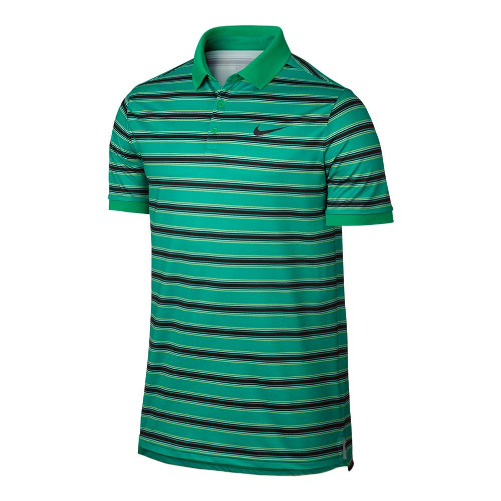 Men's Court Dry Stripe Tennis Polo
