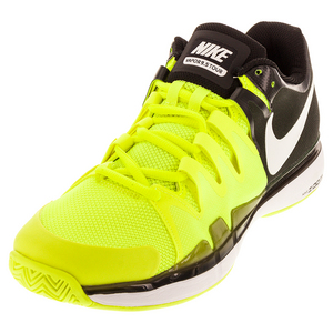 Men`s Zoom Vapor 9.5 Tour Tennis Shoes Volt and Black