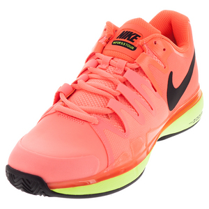 Men`s Zoom Vapor 9.5 Tour Clay Tennis Shoes Lava Glow and Hyper Orange