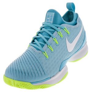 Women`s Air Zoom Ultra React Tennis Shoes Still Blue and White