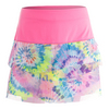 LUCKY IN LOVE Girls` Mesh Tie-Dye Scallop Tennis Skort Print