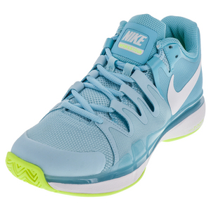 Women`s Zoom Vapor 9.5 Tour Tennis Shoes Polarized Blue and White