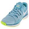 NIKE Women`s Zoom Vapor 9.5 Tour Tennis Shoes Polarized Blue and White
