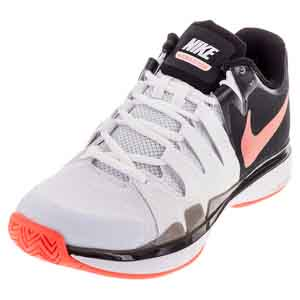 Women`s Zoom Vapor 9.5 Tour Tennis Shoes White and Black