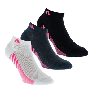 Women`s Superlite Climacool Low Cut Socks 3 Pack White Black and Gray Size 5-10