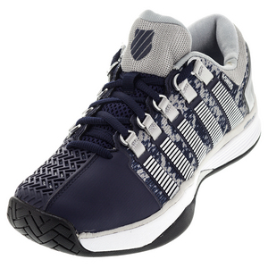 Men`s Hypercourt Tennis Shoes Navy and Silver