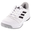 Men`s Barricade Court Wide Tennis Shoes White and Black by ADIDAS