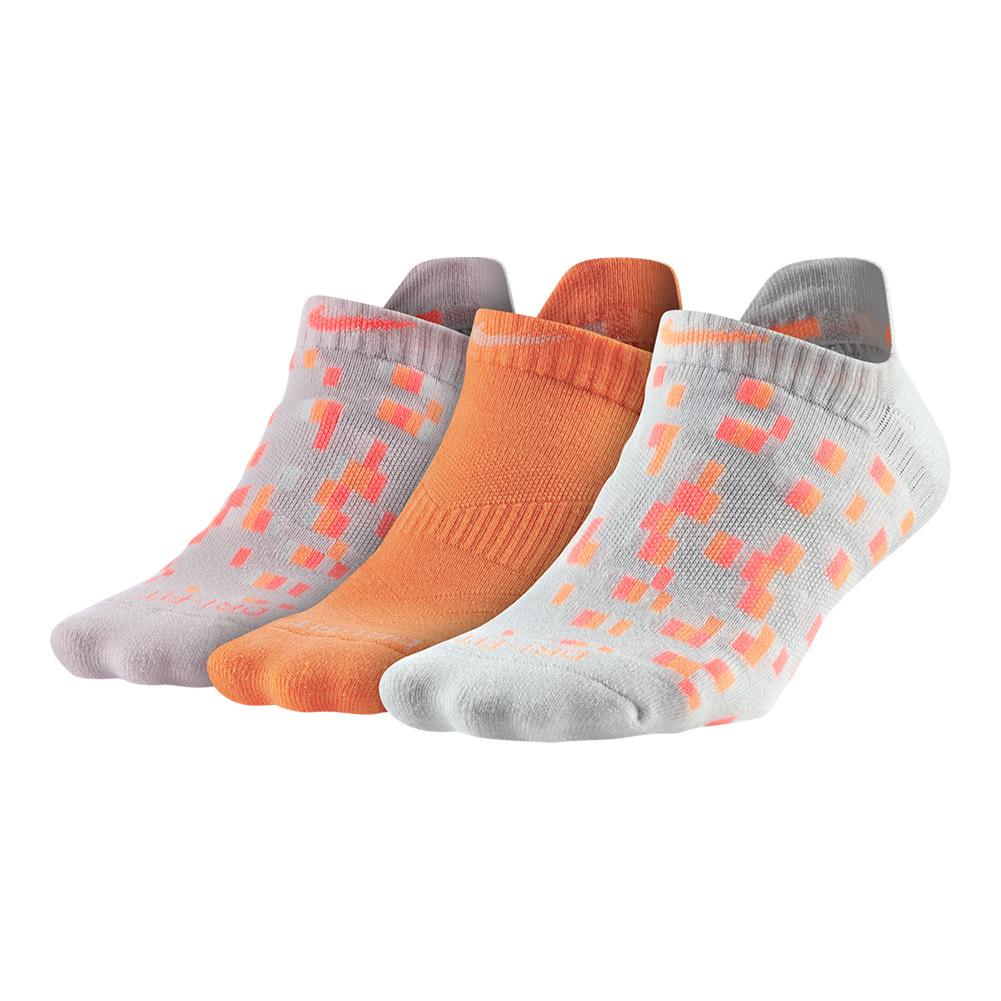 Women's Dry Graphic No- Show Socks Medium 3 Pack Multi