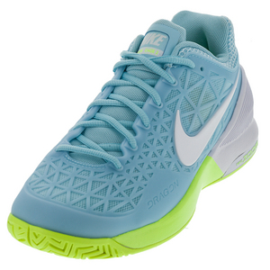 Women`s Zoom Cage 2 Tennis Shoes Still Blue and White