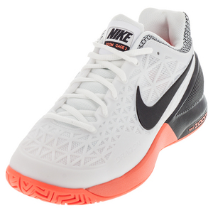 Women`s Zoom Cage 2 Tennis Shoes White and Black