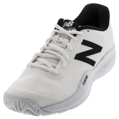Men`s 996v3 D Width Tennis Shoes White and Black