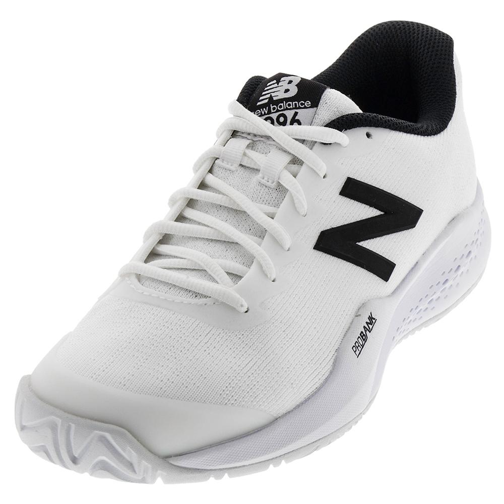 Men's 996v3 2e Width Tennis Shoes White And Black