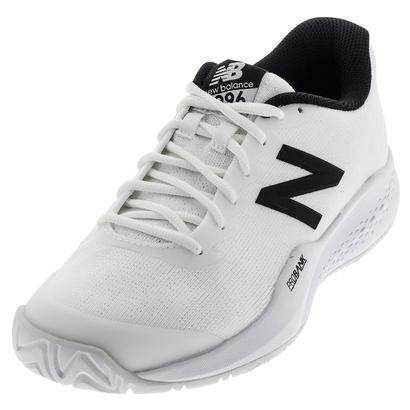 Men`s 996v3 2E Width Tennis Shoes White and Black