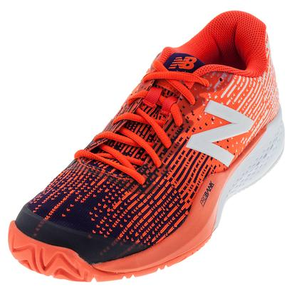Men`s 996v3 D Width Tennis Shoes Black Plum and Alpha Orange