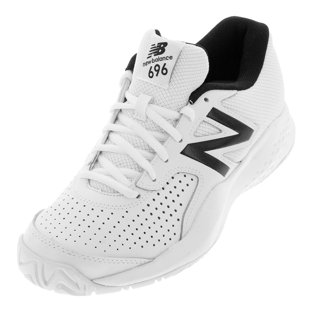 afbff3238 New Balance Men's 696v3 D Width Tennis Shoes in White