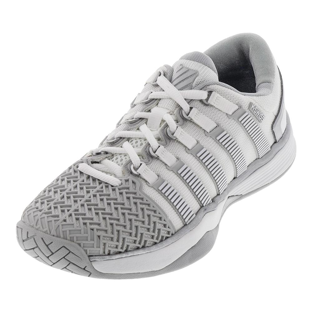 K Swiss Women S Hypercourt 2 0 Tennis Shoes White And Glacier Gray