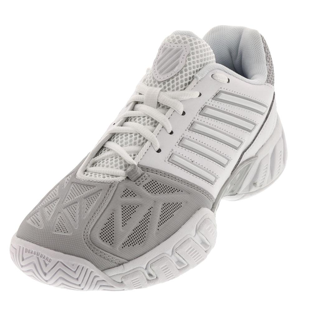 huge selection of aca7a 3b7b9 K- Swiss Women s BigShot Light 3 Tennis Shoes White and Silver