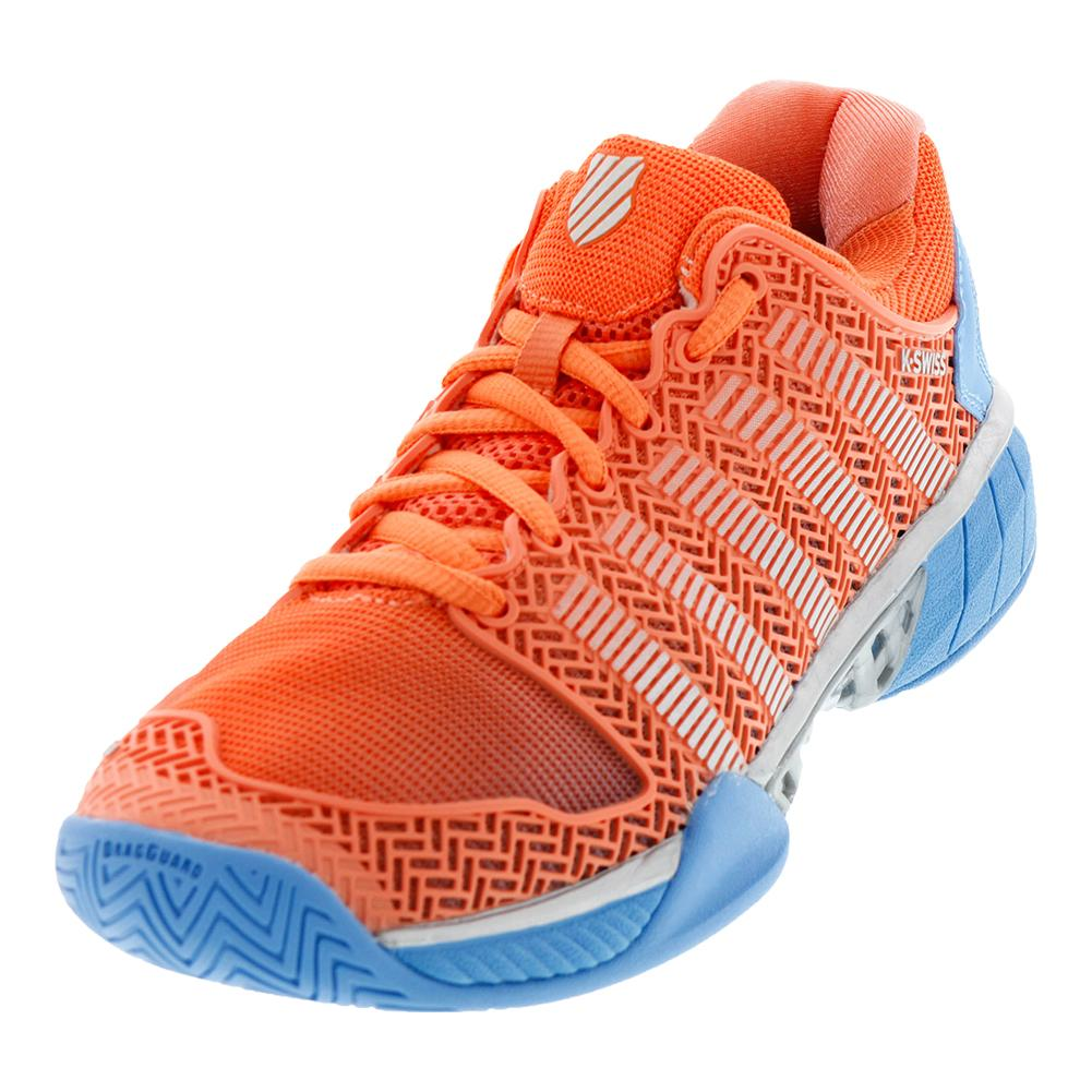 Women's Hypercourt Express Tennis Shoes Fusion Coral And Bonnie Blue