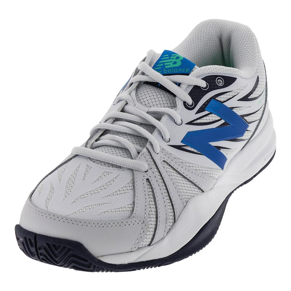 Men's 786v2 D Width Tennis Shoes Arctic Fox And Electric Blue