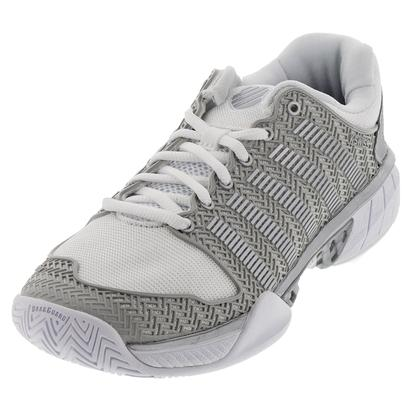 Women`s HyperCourt Express Tennis Shoes White and Silver
