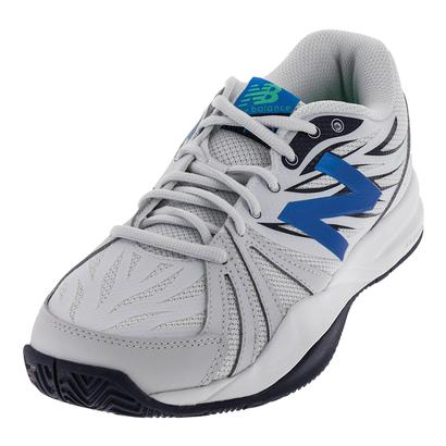 Men`s 786v2 2E Width Tennis Shoes Arctic Fox and Electric Blue
