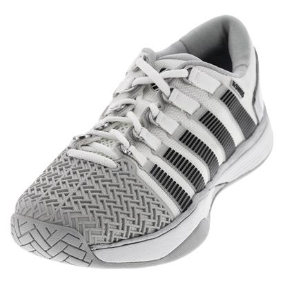 Men`s HyperCourt 2.0 Tennis Shoes Glacier Gray and White