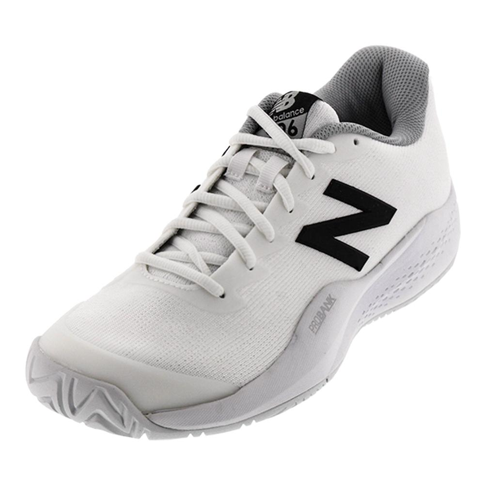 Women's 996v3 D Width Tennis Shoes White And Black