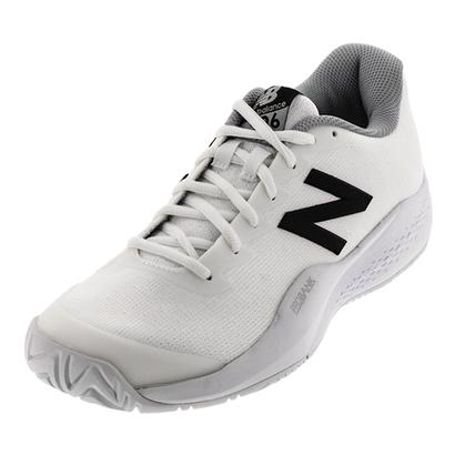 Women`s 996v3 D Width Tennis Shoes White and Black