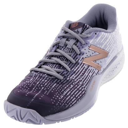 Women`s 996v3 D Width Tennis Shoes Deep Cosmic Sky and Bleached Sunrise