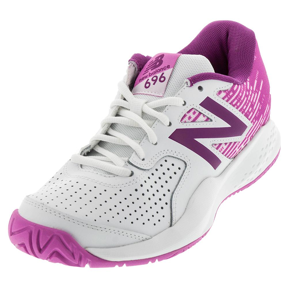 Women's 696v3 B Width Tennis Shoes White And Fusion