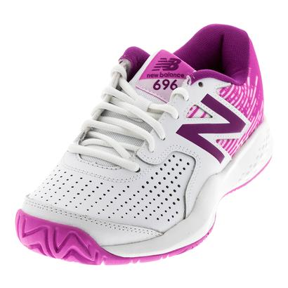 Women`s 696v3 D Width Tennis Shoes White and Fusion