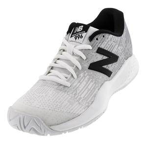 Juniors` 996v3 Tennis Shoes White and Black