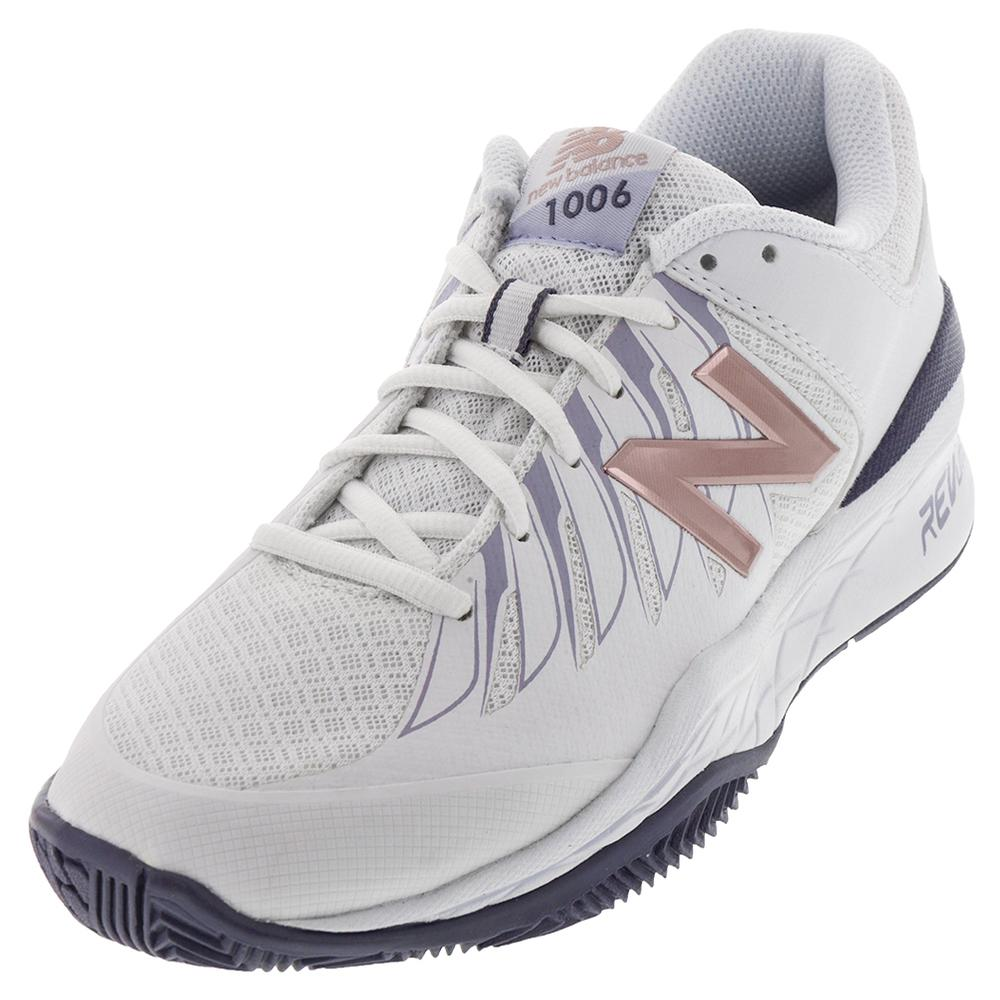 Women's 1006v1 B Width Tennis Shoes White And Deep Cosmic Sky
