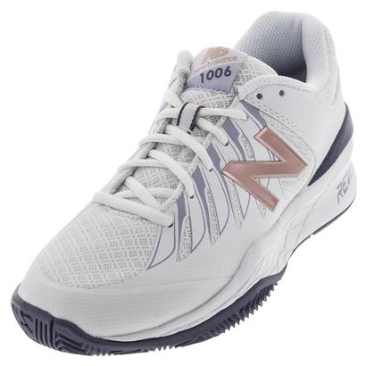 Women`s 1006v1 B Width Tennis Shoes White and Deep Cosmic Sky