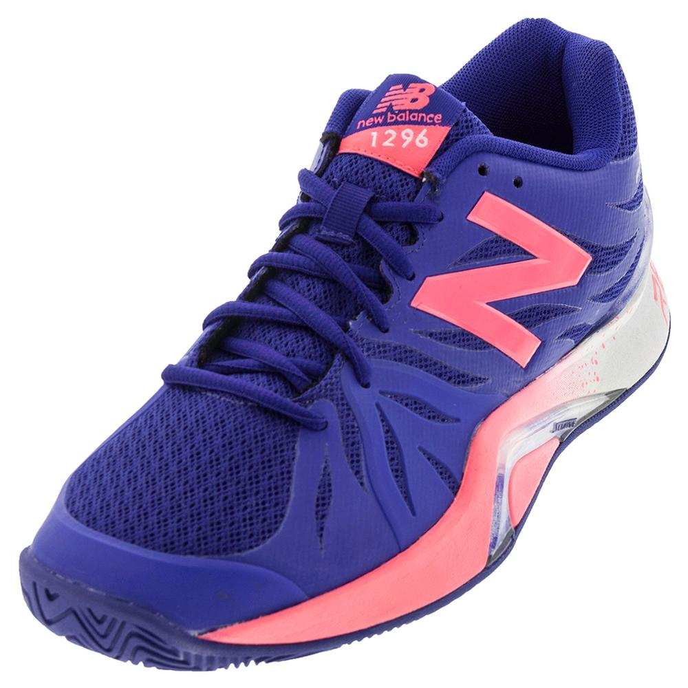 Women's 1296v2 D Width Tennis Shoes Blue And Guava