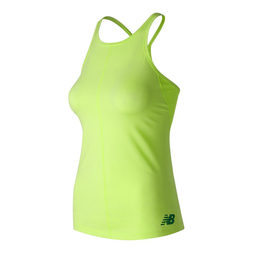 Women's Centre Court Tennis Tank Lime Glo
