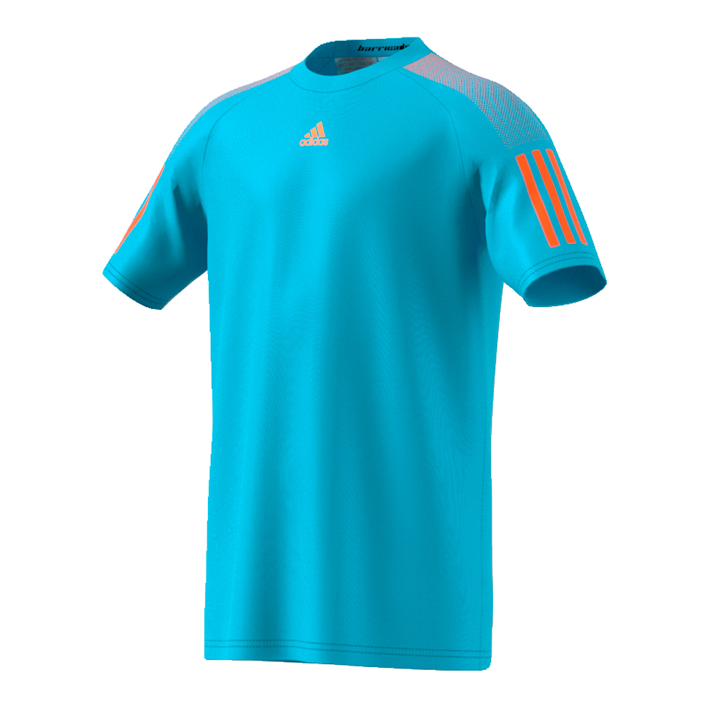 Boys ` Barricade Tennis Tee Samba Blue And Glow Orange