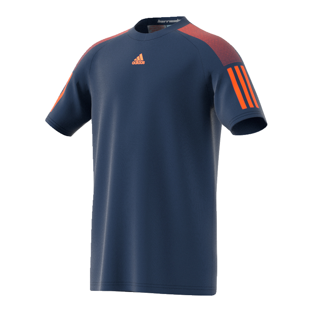 Boys ` Barricade Tennis Tee Mystery Blue And Glow Orange
