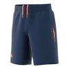 ADIDAS Boys` Barricade Tennis Short Mystery Blue and Glow Orange