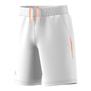 Boys` Barricade Tennis Short White and Glow Orange
