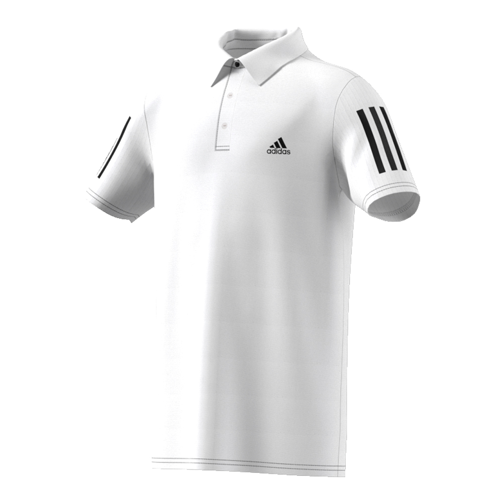 Boys ` Club Tennis Polo White And Black