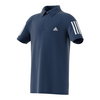 ADIDAS Boys` Club Tennis Polo Mystery Blue and White