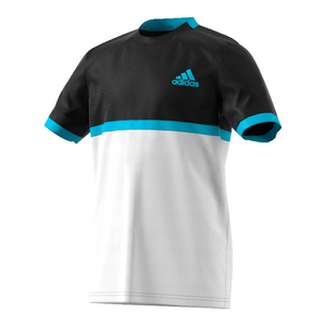 Boys` Court Tennis Tee Black and White