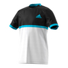 ADIDAS Boys` Court Tennis Tee Black and White