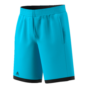 Boys` Court Tennis Short Samba Blue and Black